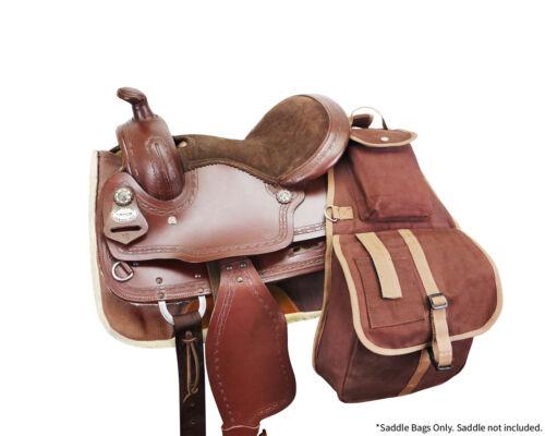 Tahoe Large Multi Pocket Horse Canvas Saddle Bag w Cell Phone Pocket