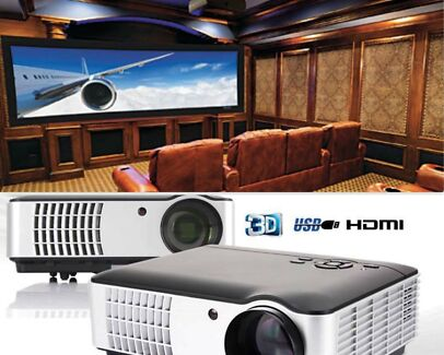 3500 Lumens HD LCD Home Theatre Projector Support 1080p 3D