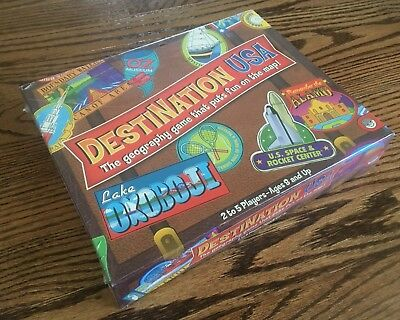 DESTINATION USA Geography Board Game Educational Ages 8 & Up NEW (Destination Usa)