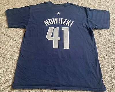 Dirk Nowitzki #41 Dallas Mavericks Mavs Men's Large NBA Jersey T-Shirt Shirsey