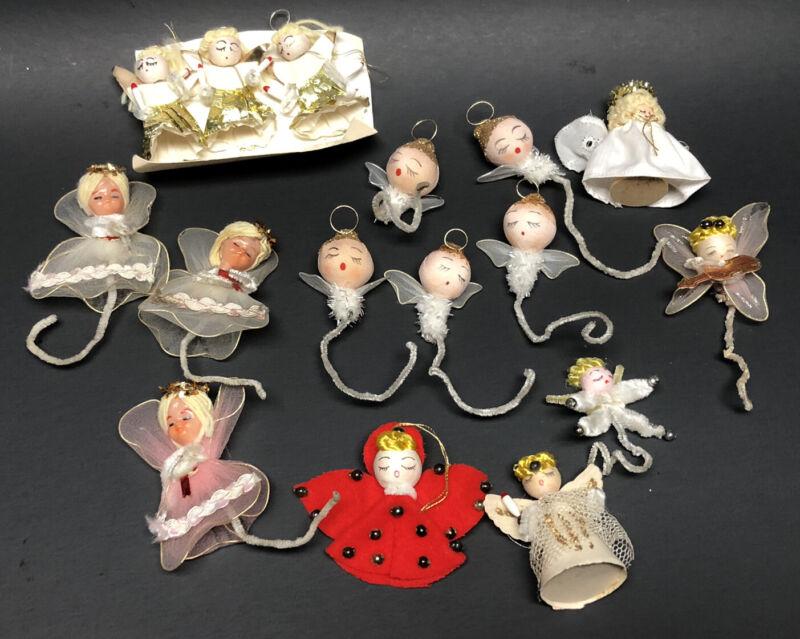Vintage Lot Of 16 Sleeping Angel Tie-Ons/Ornaments, JAPAN