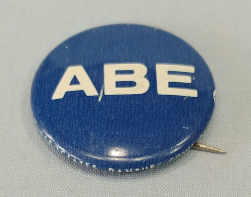 Vintage Abe Ribicoff 1968 Senate Political Campaign Pinback Button