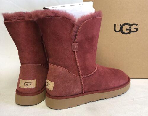 $109.99 - UGG Australia CLASSIC Cuff SHORT SHEEPSKIN BOOTS sizes 1016418 Red Clay Women's