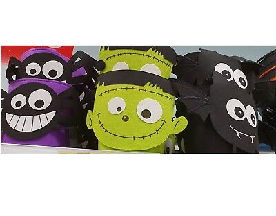 HALLOWEEN KIDS TRICK OR TREAT FELT GIFT PARTY BAGS FOR CANDY SPOOKY FUNKY BUCKET