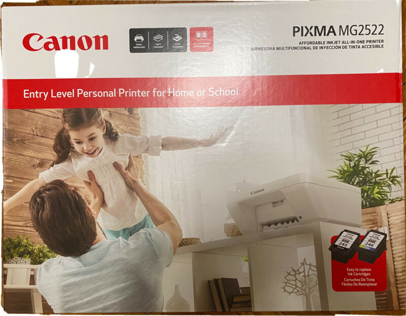 Canon Pixma MG2522 All-in-One Inkjet Printer Scanner and Copier INK NOT INCLUDED