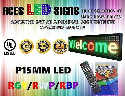 Led Sign 15 X 53 Programmable Scroll Message Board Rgyrwprbp P20mm