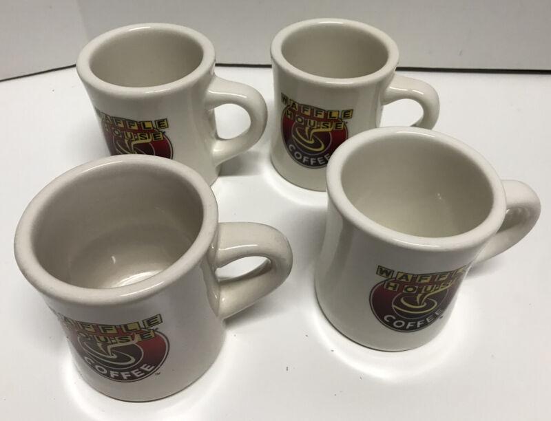 Lot Of 4 WAFFLE HOUSE Coffee Mugs. Collectible. Tuxton