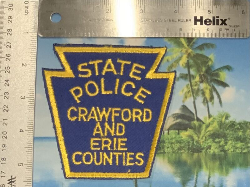 2 Pennsylvania State Police Crawford And Erie Counties Patches