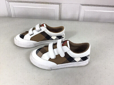BURBERRY Kids Shoes Check Canvas Size 12