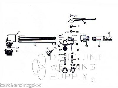 Repair Kit - Smith Equipment Mc509 Cutting Torch Rebuild Asmc509rk