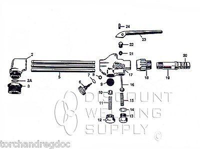 Repair Kit - Smith Equipment Mc509 Cutting Torch Rebuild Asmc509rk