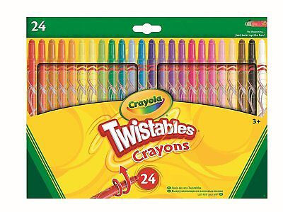 CRAYOLA TWISTABLES CRAYONS - PACK OF 24 TWISTABLE MULTI COLOURS