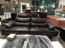 GENUINE 100% LEATHER LARGE ADJUSTABLE 2 SEATER LOUNGE Perth CBD Perth City Preview