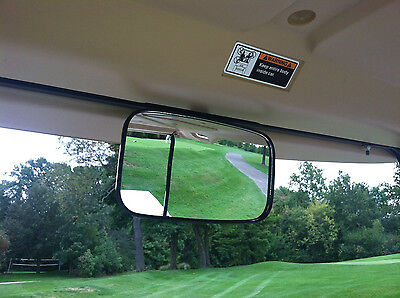 XL Large Size Better View Golf Cart Rear View Mirror for Ez Go, Club Car, (Best Yamaha Golf Carts)