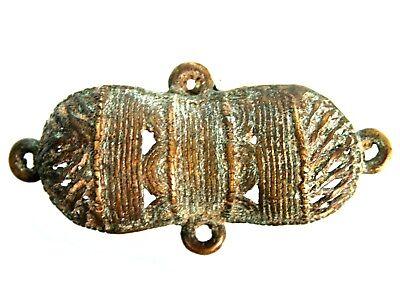 Art African Tribal - Antique Pendant Bronze Baoulé - Akan Pendant - 6,3 CMS
