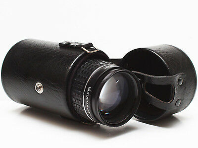 "Vintage Vivitar 6"" Hard Lens Case For Canon Nikon Olympus Konica Takumar Pentax"