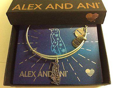 Penguin Silver Bracelet (Alex and Ani Penguin Bangle Bracelet Rafaelian Silver New Tag Box Card)