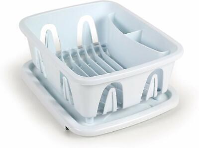 White Plastic Cups (3-Compartment White Plastic Mini Dish Plates Cups Storage Drainer Rack &)