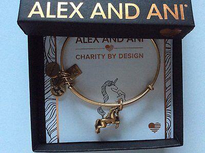 Alex and Ani Unicorn Bangle Bracelet Rafaelian Gold NWTBC](Unicorn Bracelet)