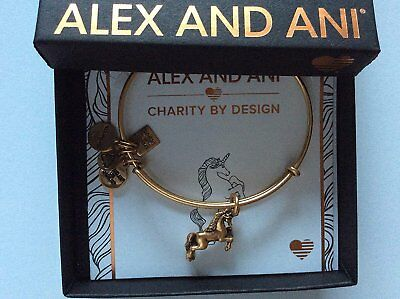 Alex and Ani Unicorn Bangle Bracelet Rafaelian Gold NWTBC
