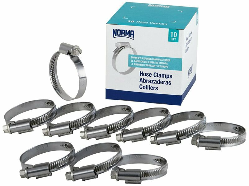 NORMA 01266704050-000-0541 Hose Clamps, 40 mm-60 mm X 9 mm W4 (Pack of 10)