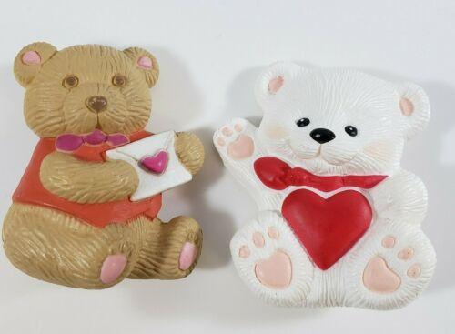💕Vintage Hallmark  GGI Lot Plastic Pins  Bears Love Letter Heart Valentine