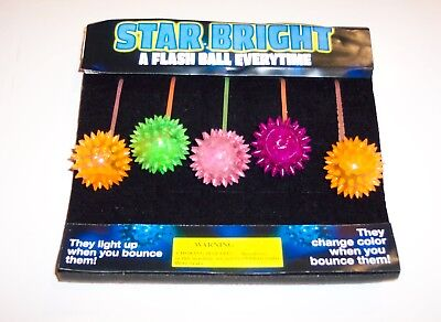 Gumball Machine Vending Header Toy Prize - One Lighted Flash Balls Display Card - Cheap Gumball Machine