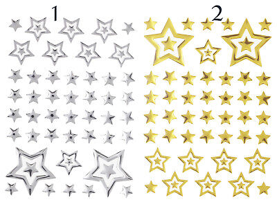 Mosaik-Sticker Aufkleber Scrapbooking basteln Stickerbogen silber/gold
