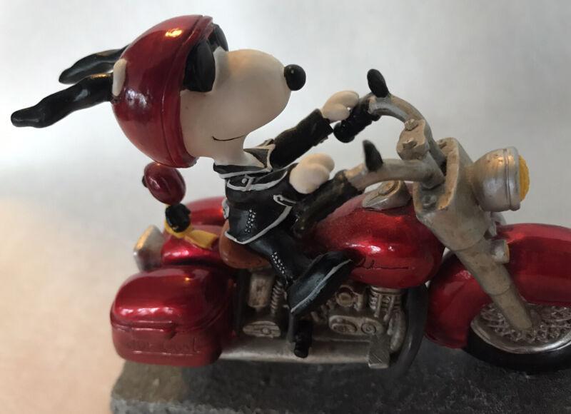 Peanuts  Snoopy Joe Cool On Motorcycle Figurine Westland Giftware