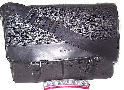 Coach Mens Henry Messenger Laptop Briefcase Bag Black 54149 NWT $495