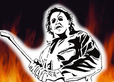 Michael Myers Halloween Horror Airbrush Stencil  Spray Vision Best Designs