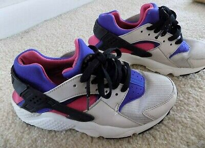 Nike Huarache Girls Size 5 Y 654275-036 Mutlicolor Running Athletic Shoes
