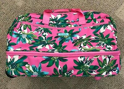 wheeled carry on tropical paradise pink floral