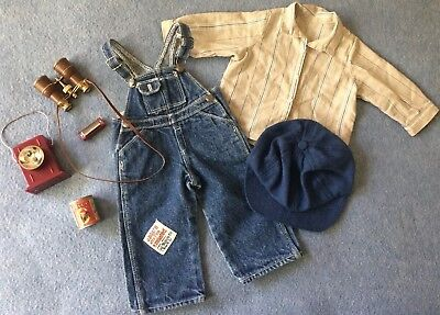 Hobo Outfit (American Girl Kit Hobo Camp Outfit Overalls Shirt Supplies Binoculars Retired)