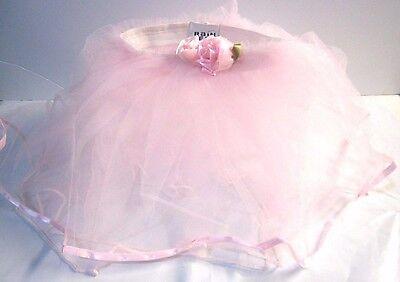 GIRL'S PINK ROSE BUD TUTU DANCE DRESS UP HALLOWEEN COSTUME FITS UP TO SIZE - Tutu Rose Halloween
