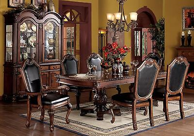 Modern Traditional Style Cherry Dining Room Table 2xArm & 4xSide Chairs 7pc Set