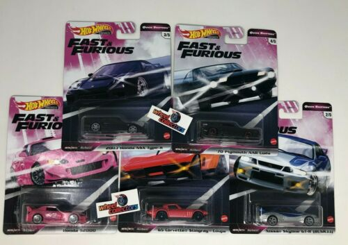 5 Car Set QUICK SHIFTERS * 2020 Hot Wheels Fast & Furious Case J * IN STOCK