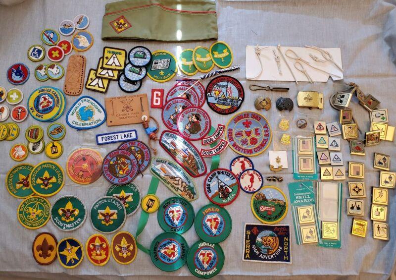 BSA Patches, Hat, Pins, & Belt Loop Merit Badge Los Angeles 1980