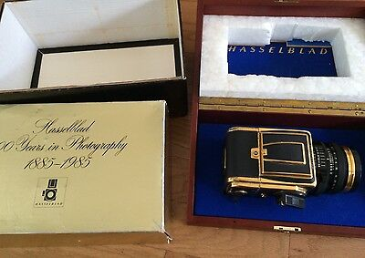 Vintage HASSELBLAD 2000FC/M GOLD 100 YEARS IN PHOTOGRAPHY Gold/black Med Format