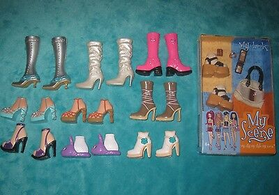 Barbie My Scene Shoes Boots Lot + NIB My Look Accessories NEW