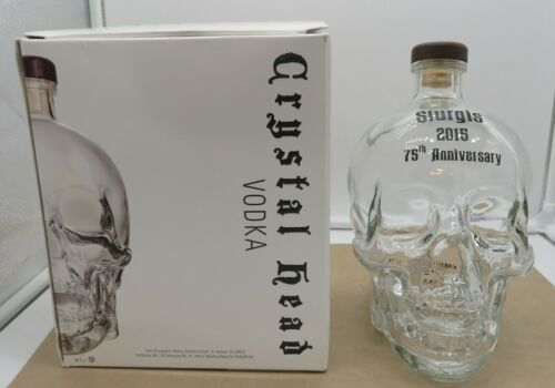 Crystal Head Vodka Skull Bottle STURGIS 75th Anniversary Collectible 1.75L EMPTY