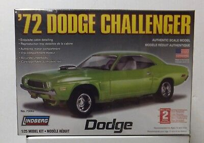 72 Dodge Challenger New In Box Lindberg 1/25 Scale