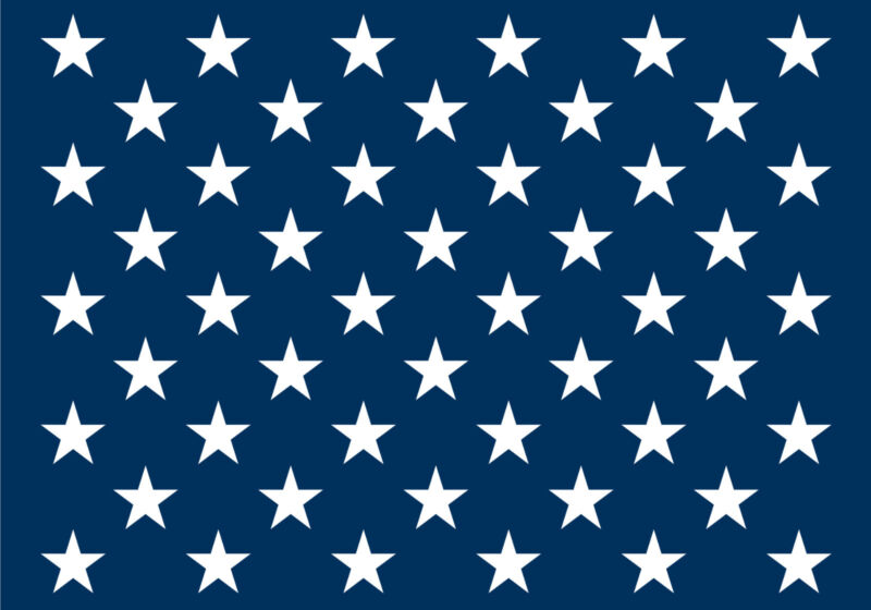 Flag STENCIL (50) Stars Proud Americana Liberty Old Glory USA Craft Sign U Paint