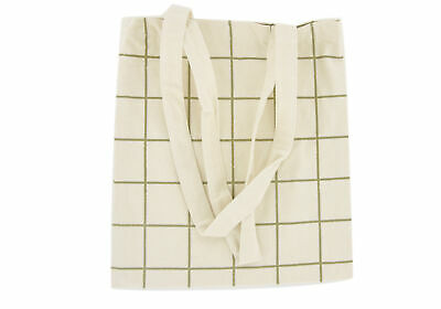Bag Tote Bag Grid Cotton Thick 27, 5x31, 5cm - Megacrea DIY