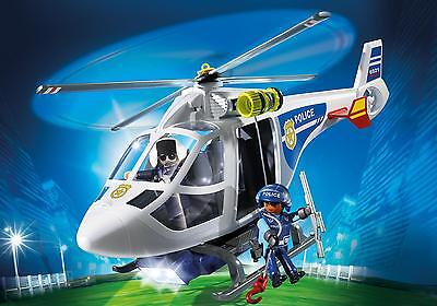 Playmobil 6921 – Police Helicopter with LED Torch Searchlight City Action