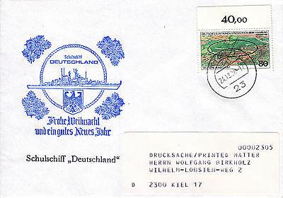 Schiffspost Schulschiff Deutschland Weihnachten 1984