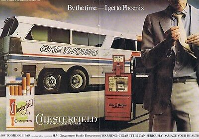 CHESTERFIELD GREYHOUND BUS ADVERT Large original vintage press clipping 42x30cm
