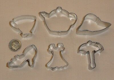 """Ladies Red Hat,GirlsTea PartyBridal, Mini Cookie Cutter Set,Tiny,1.5"""",OTBP,6 Pc."""