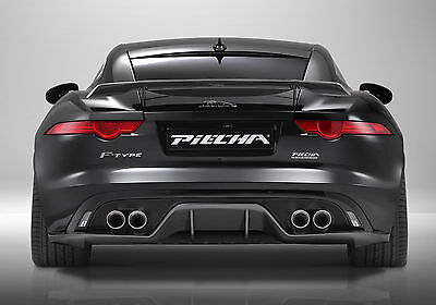 JAGUAR F TYPE PIECHA REAR DIFFUSER QUAD EXHAUST CARBON FIBER GENUINE V8 2013-ON