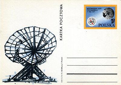 GA Ganzsache Polen Polska UIT Miedzynarodowy Dzien Telekomunikacij 1971 GA115